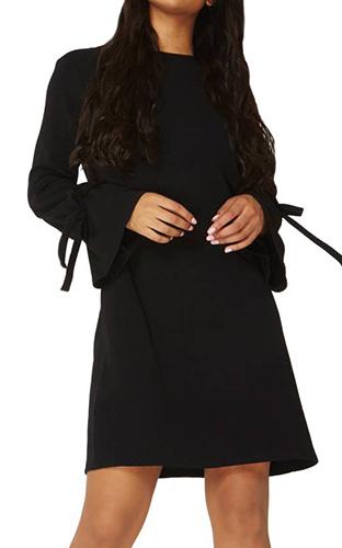 Tie Sleeve Shift Dress