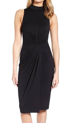 Twist Front Body-Con Dress