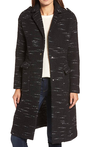 Wool Blend Sweater Coat