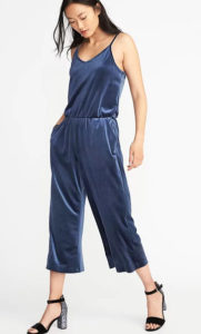 velvet jumpsuit old navy