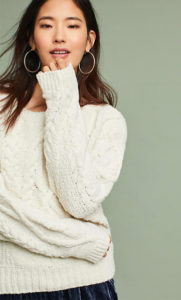 chenille sweater anthropologie