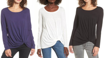 Every Woman Should Own This Crazy Flattering $18 Tee From Nordstrom--It Looks Good On <em>Everyone</em>