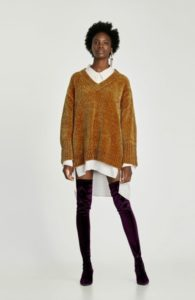 zara chenille sweater