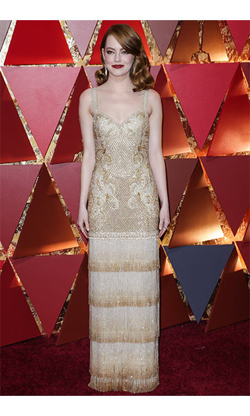 emma stone golden globes dress