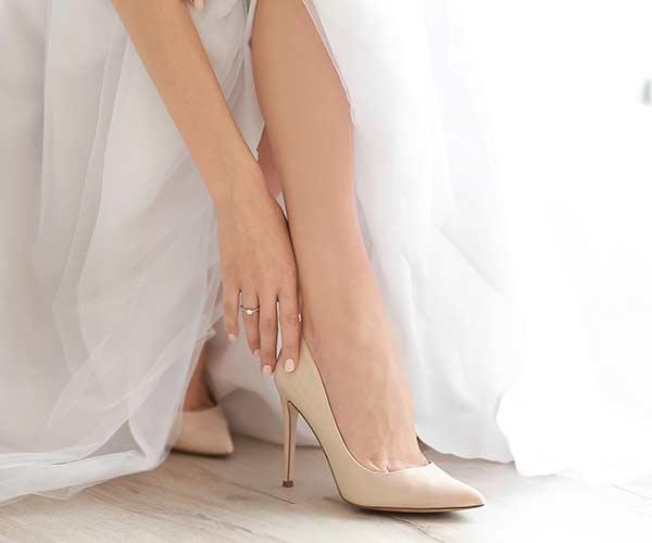 Bride in heels