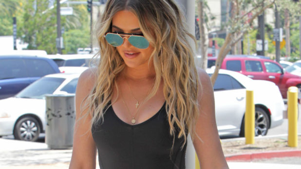 Um, Did Khloé Kardashian Not Realize That Her Top Was Completely See-Through?