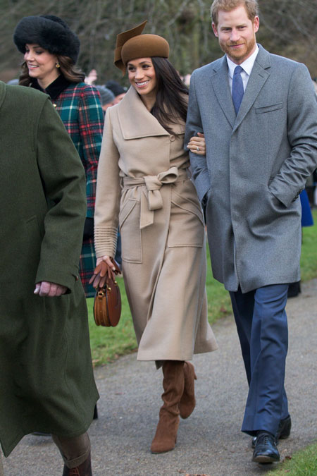 meghan markle christmas day service outfit