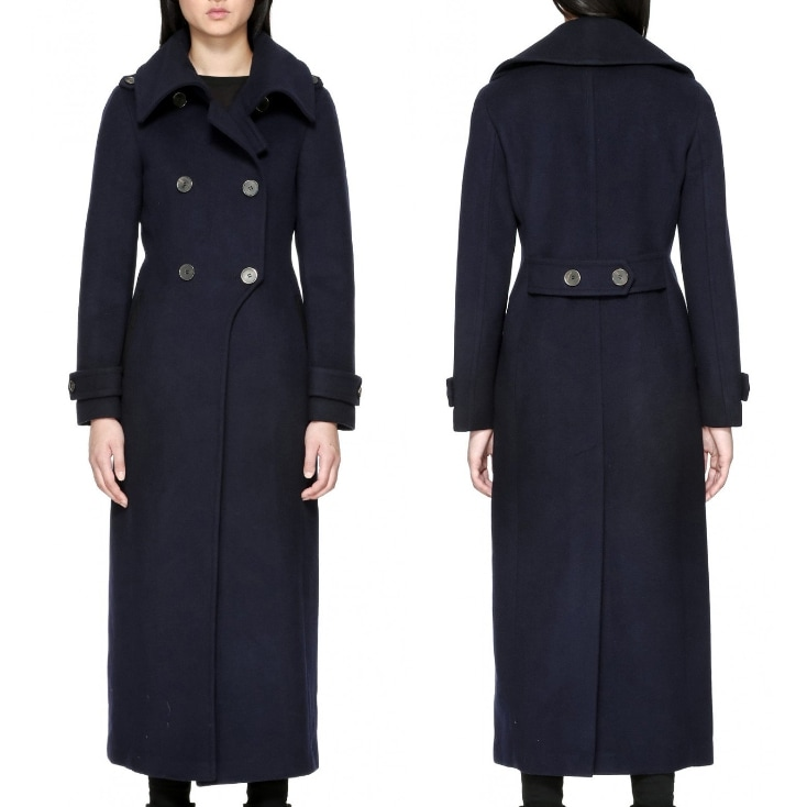mackage navy coat elodie