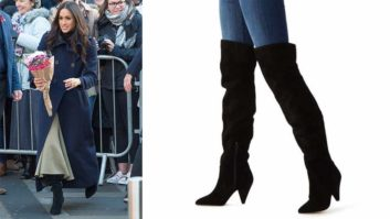 Meghan Markle's Black Over-The-Knee Boots Are Almost Completely Sold Out Days After Appearance