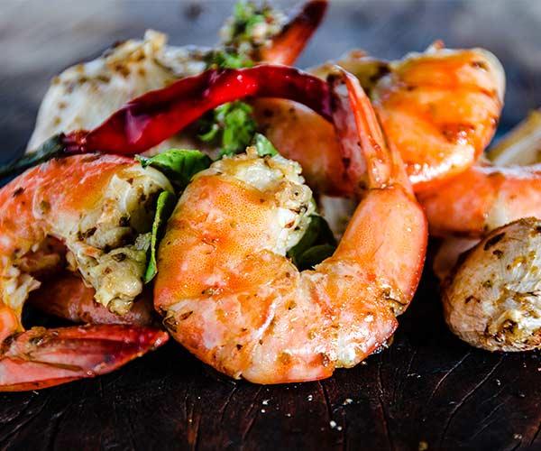 shrimp clear skin