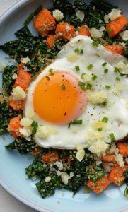 sweet potato egg hash