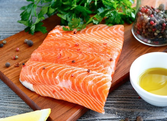 salmon thinning hair