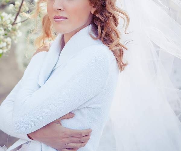 Bride with sweater
