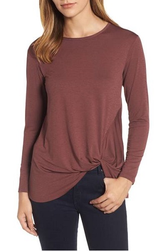 nordstrom front knot top