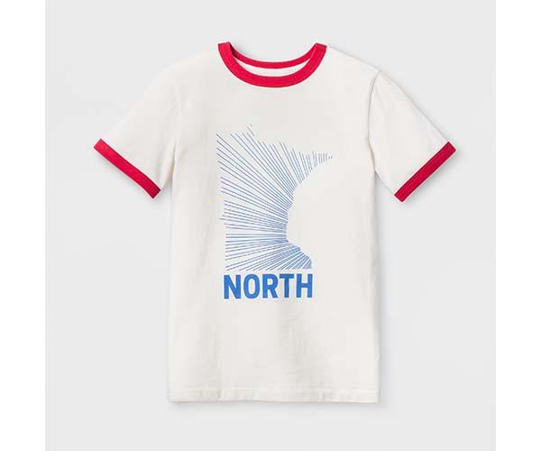 940867f8787 Askov Finlayson for Target Kids  Minnesota State North Ringer T-Shirt -  Cream ( 14)