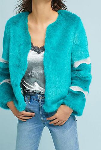 Bright Faux Fur Coat