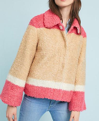 Colorblocked Sherpa Jacket