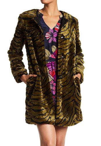 Trina Turk Content Faux Fur Coat