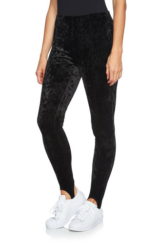 Crushed Velvet Stirrup Leggings