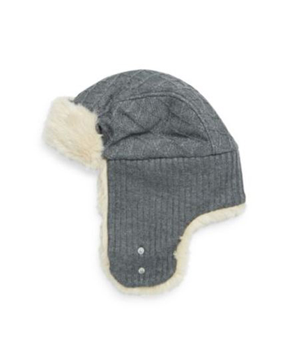 Block Headwear Diamond Faux-Fur Trapper Hat