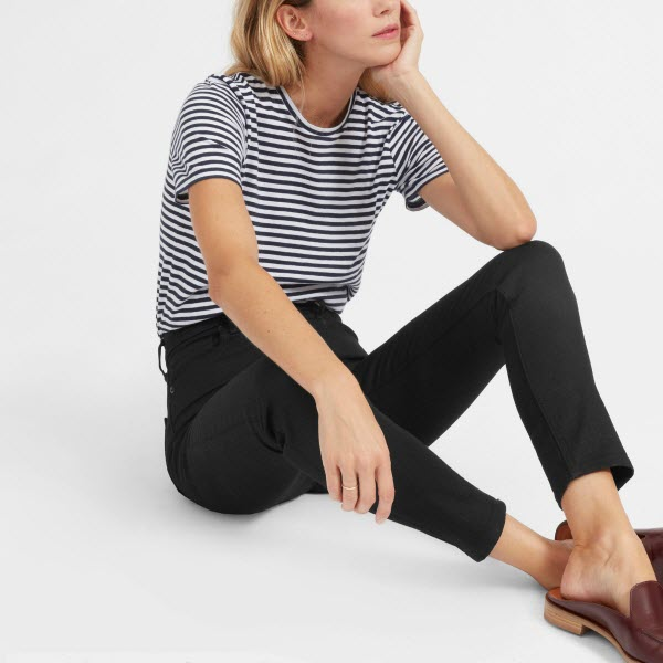 everlane high rise skinny black jeans