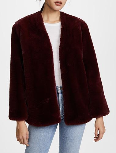 Moon River Faux Fur Coat