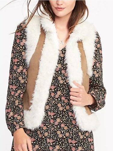 Faux-Fur Shearling Vest for Women