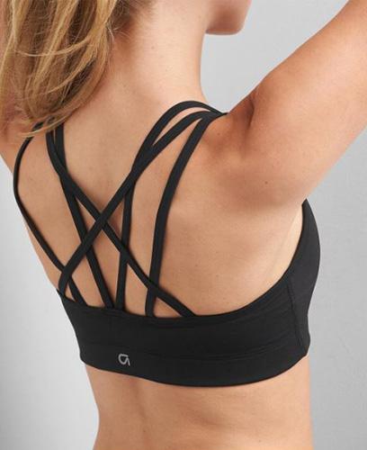 Medium impact strappy sports bra