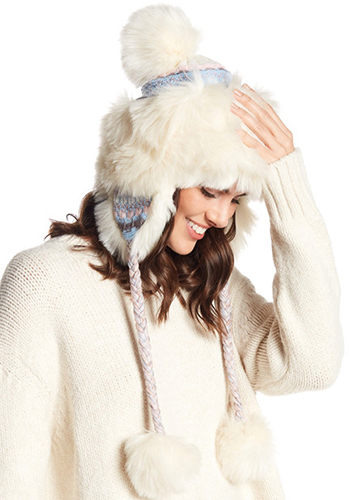 Free People Melt My Heart Faux-Fur Trapper Hat