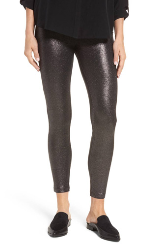 Metallic Denim Leggings