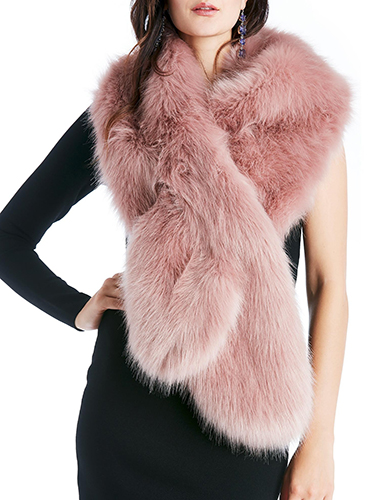 Oversize Faux Fur Wrap