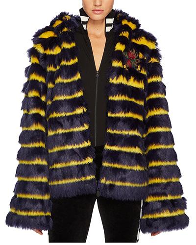PUMA Puma x Fenty by Rihanna Faux Fur Shawl Collar Jacket