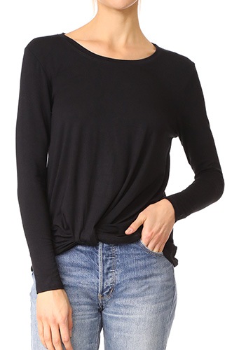 Terez Twist Front Long Sleeve