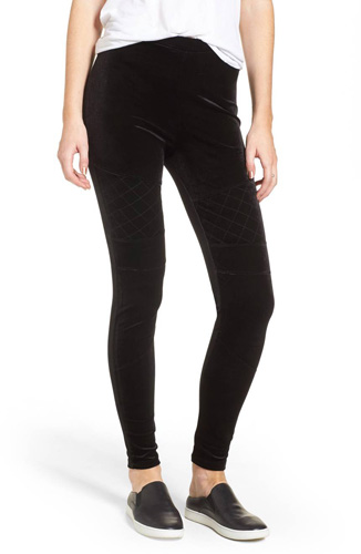 Velour Moto Leggings