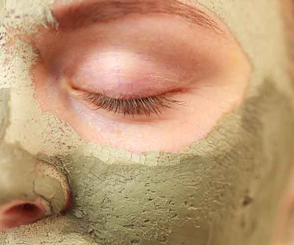 woman clay mask