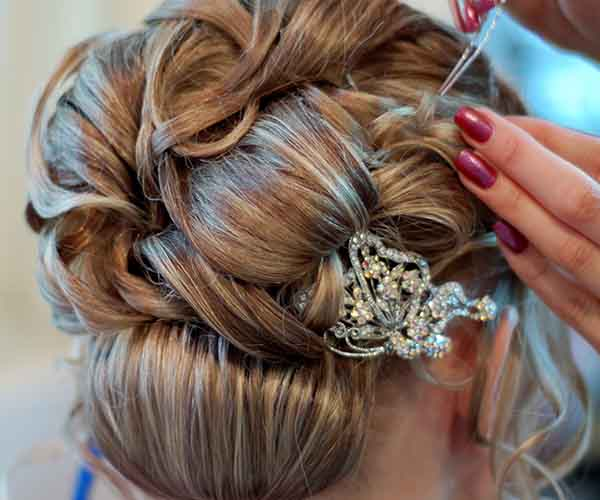 Broach in hair
