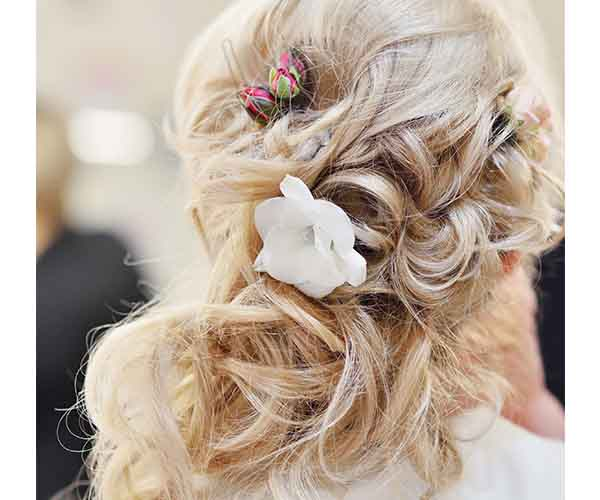Loosely pinned updo