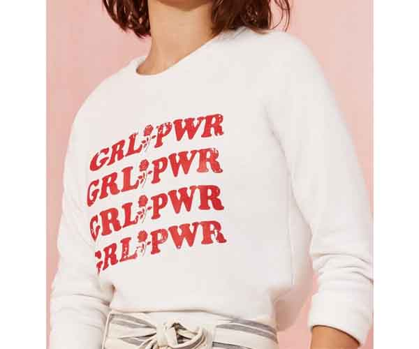 women's march girl power t-shirt