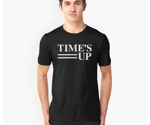 women's movement time's up t-shirt