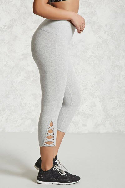 74ee7179a27b9 If you can get past the light gray color (I know my size 30 self cannot)  then these are a great bargain: Active Heathered Capri Leggings ...