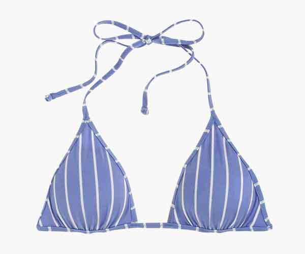 J.Crew Playa printed Miami string bikini top