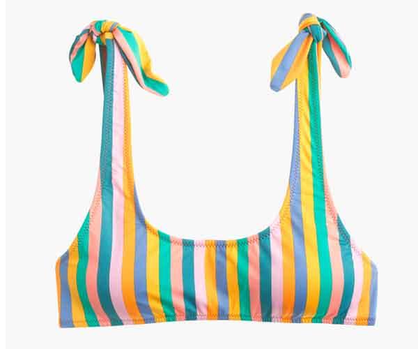 J.Crew Playa printed Nantucket tie-shoulder bikini top