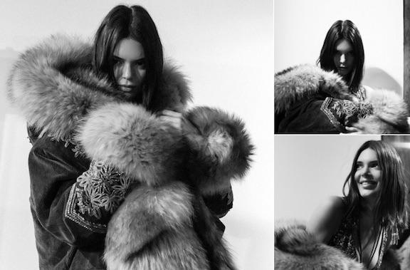 kendall jenner fur coat