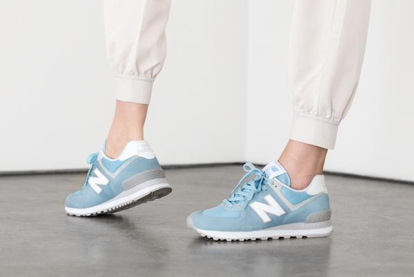 new balance pastel blue classic 574 sneaker