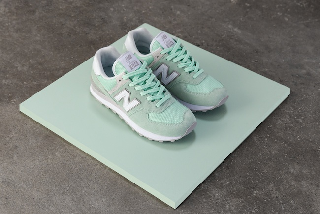 new balance pastel green classic 574 sneaker