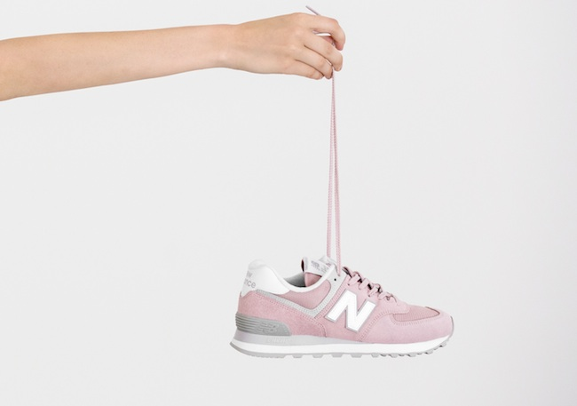 new balance pastel pink classic 574 sneaker