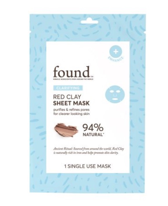 FOUND Clarifying Red Clay Sheet Mask