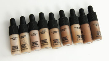 Major Beauty Alert: We've Got Exclusive Swatches Of The New M.A.C. Cosmetics Studio Waterweight Concealer!