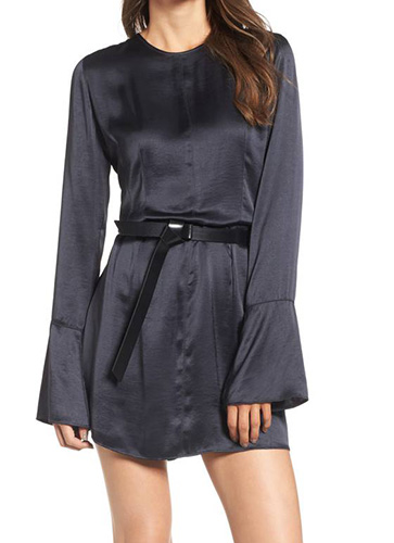x Something Navy Bell Sleeve Minidress