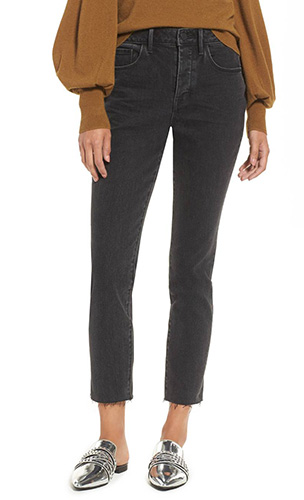 x Something Navy Loose Fit Skinny Jeans